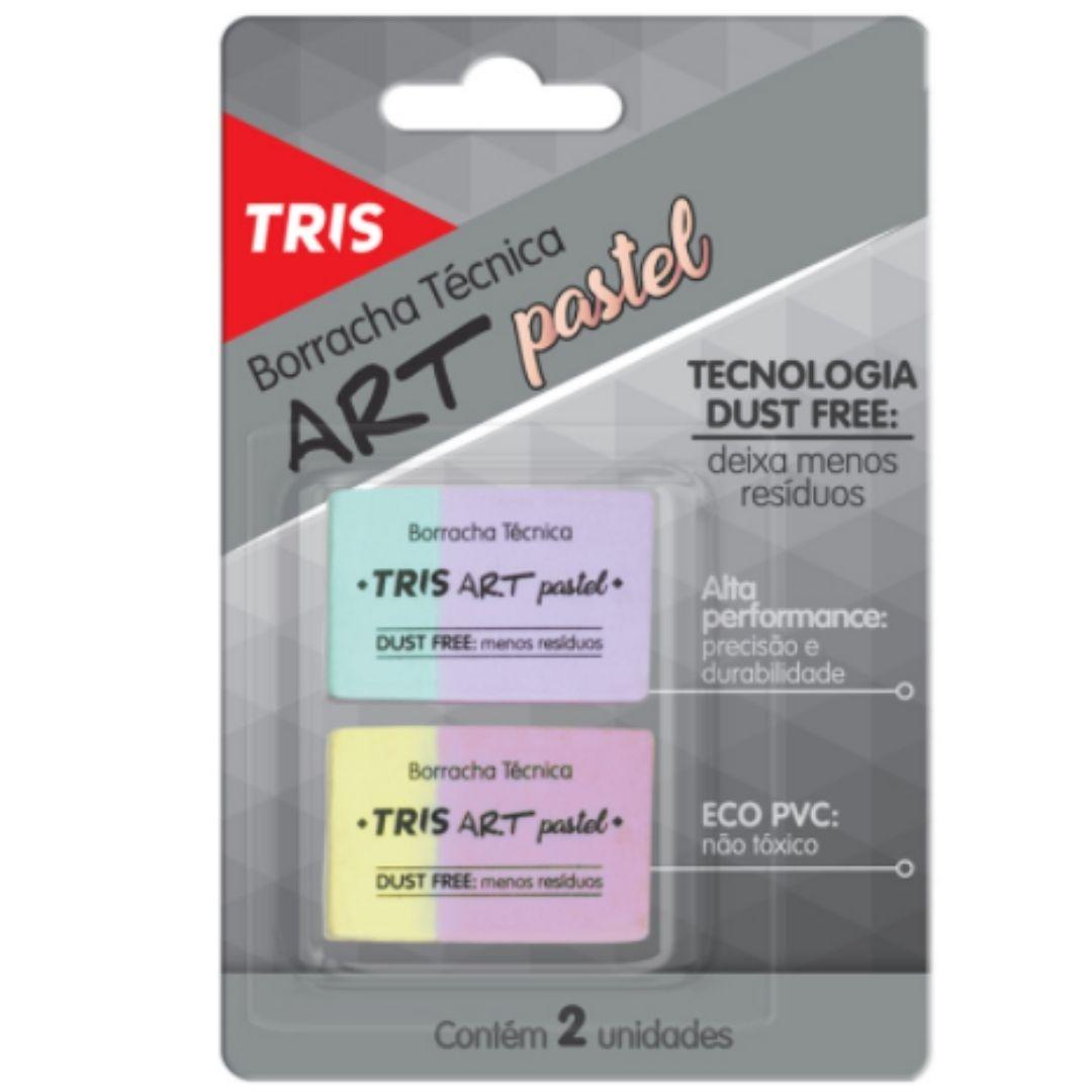 Borracha Técnica Art Pastel Dust Free com 2 | Tris