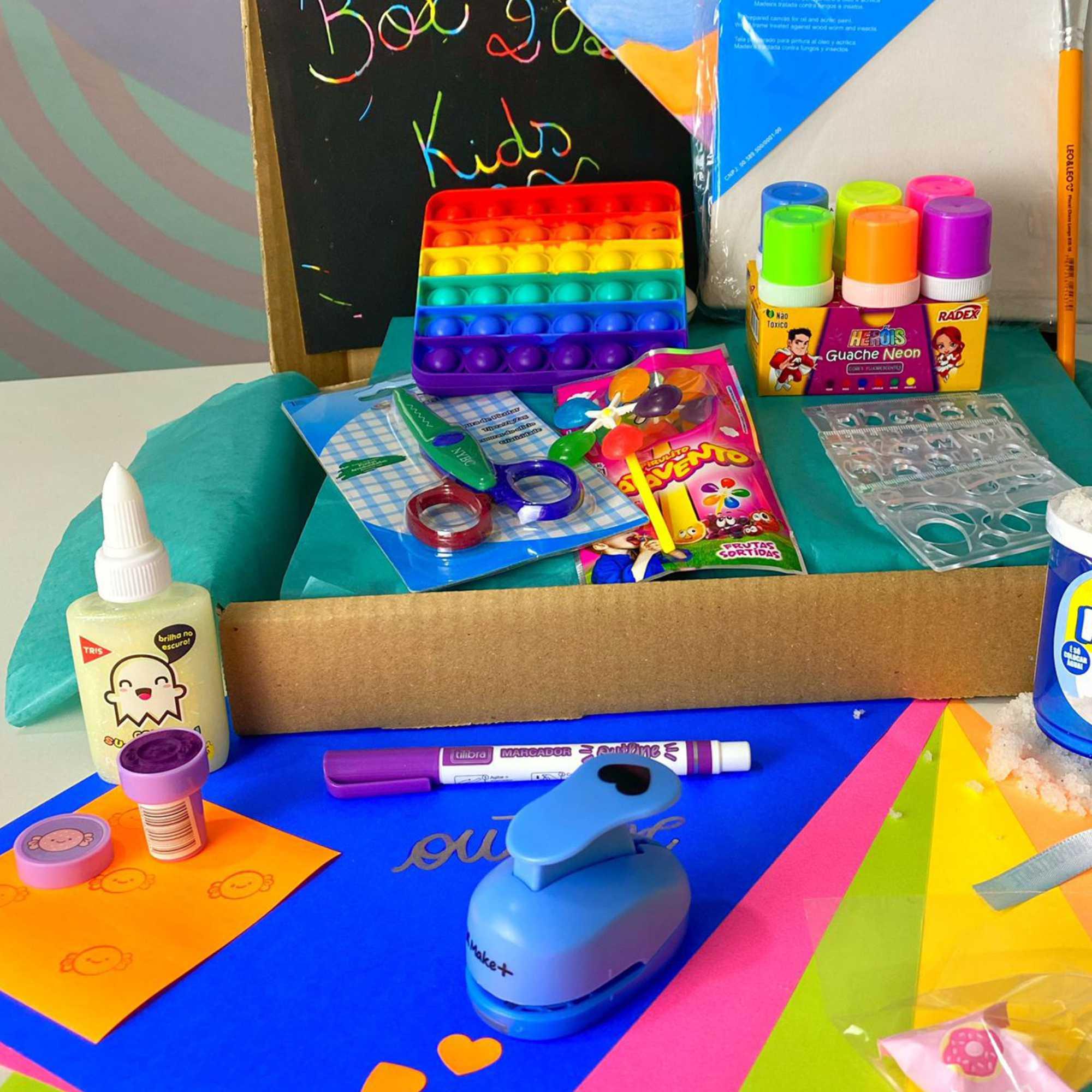 CAIXA BOX KIDS SUPER 2021 Caixa Surpresa Criativa Dia das Crianças | Judá