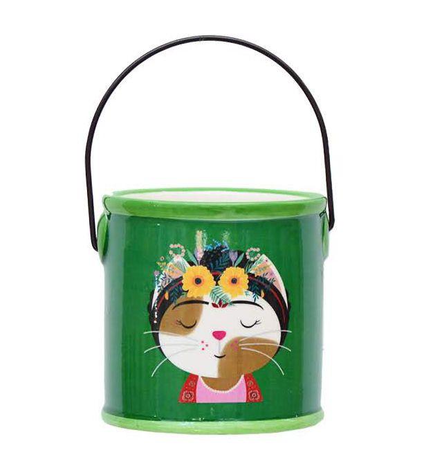Cachepot Gato Frida Cores Variadas| Importado