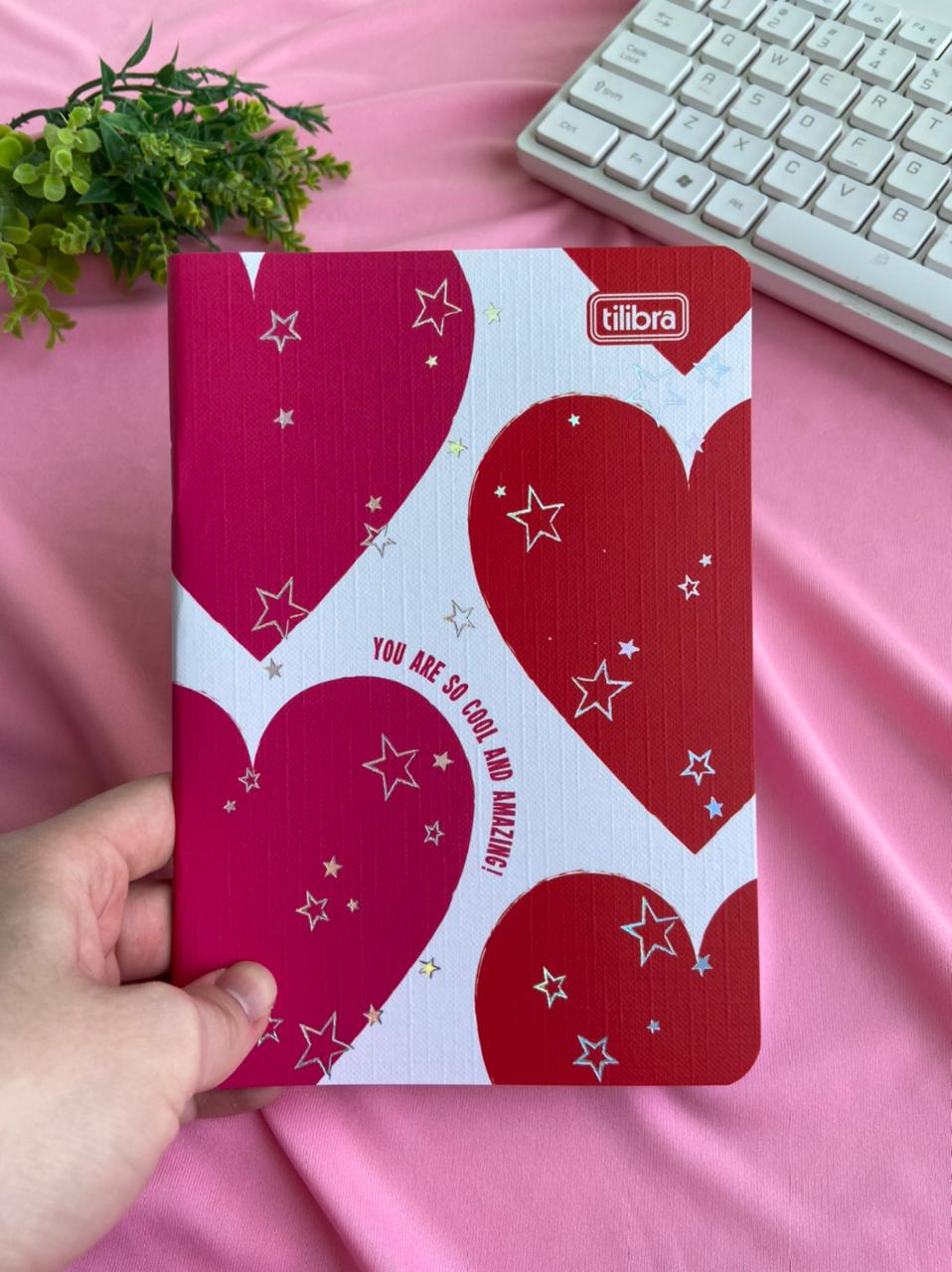 Caderneta Grampeada - Love Pink  Sortido 32 Folhas | Tilibra