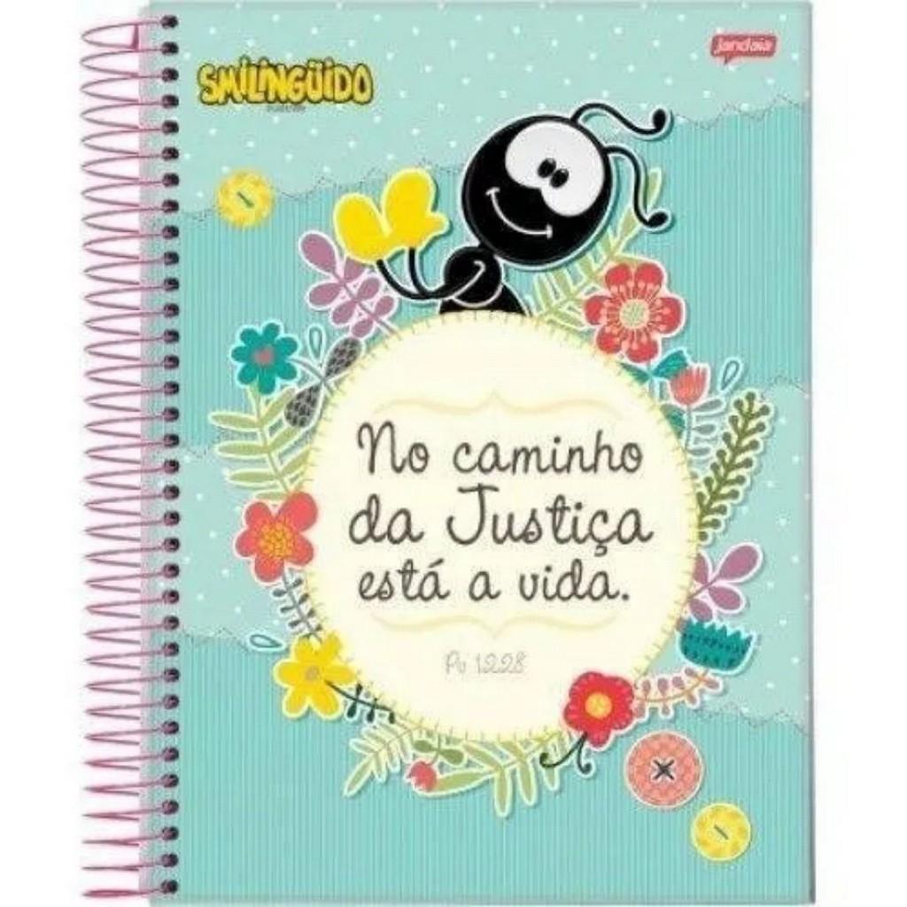 Caderno 96 folhas Smilinguido   Jandaia