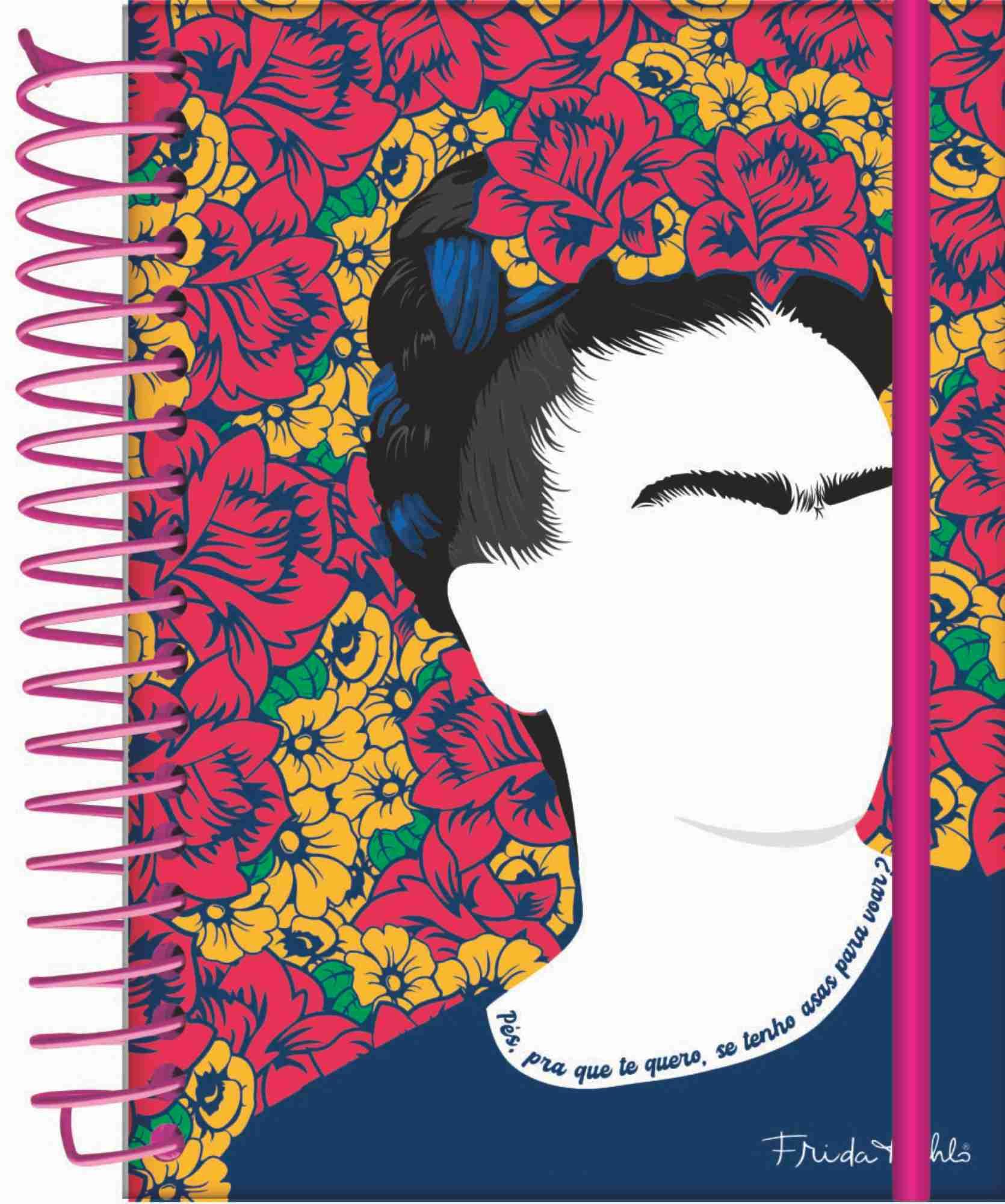 Caderno A5 Frida Kahlo 140x200mm   Jandaia