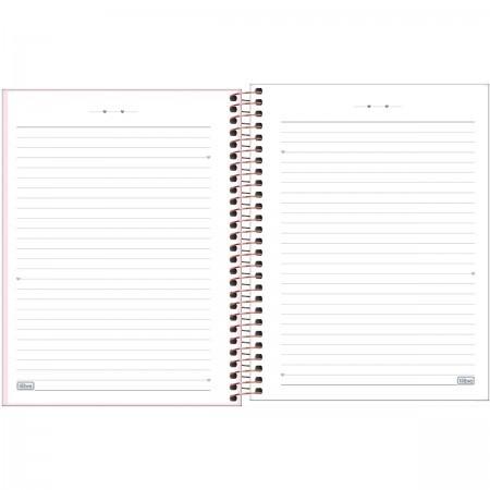 Caderno Capa Plástica Happy Colegial Rosa 160 folhas | Tilibra