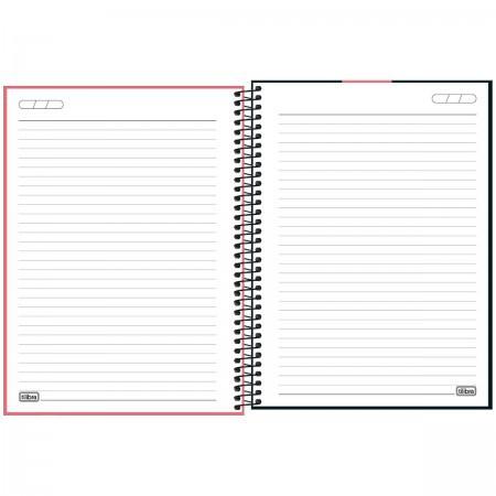 Caderno Capa Plástica Universitário com Elástico Vermelho Neon 80 folhas | Tilibra