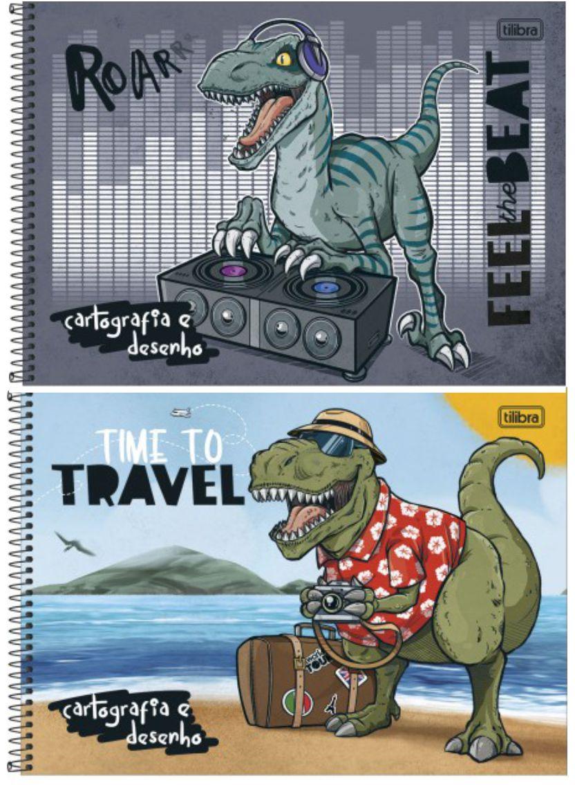 Caderno Cartografia Capa Dura e Desenho Raptor 80 folhas | Tilibra