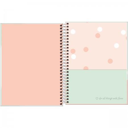 Caderno colegial 10 matérias 160 folhas Soho Branco com Bolinhas | Tilibra