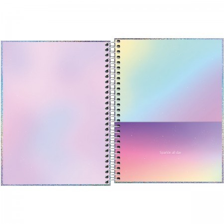 Caderno Colegial Glow 80 folhas   Tilibra