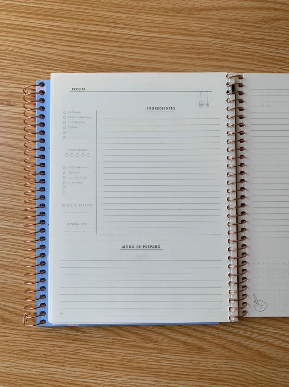 Caderno De Receitas Soho Espiral Colegial   Tilibra