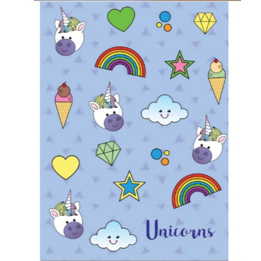 Caderno Espiral 96 folhas Unicórnio Lilás | Maxima