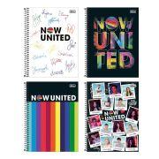 Caderno Espiral Capa Dura Universitário 10 Matérias Now United 160 Folhas   Tilibra
