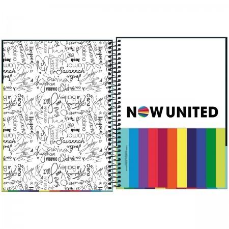 Caderno Espiral Capa Dura Universitário 10 Matérias Now United 160 Folhas | Tilibra