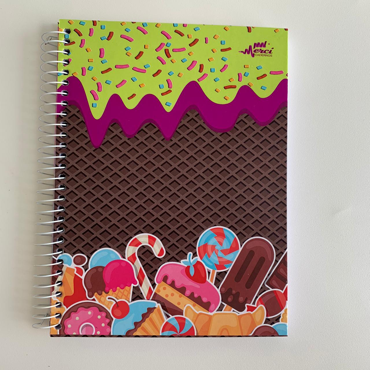 Caderno Espiral Colegial Sweet Life | Papelic
