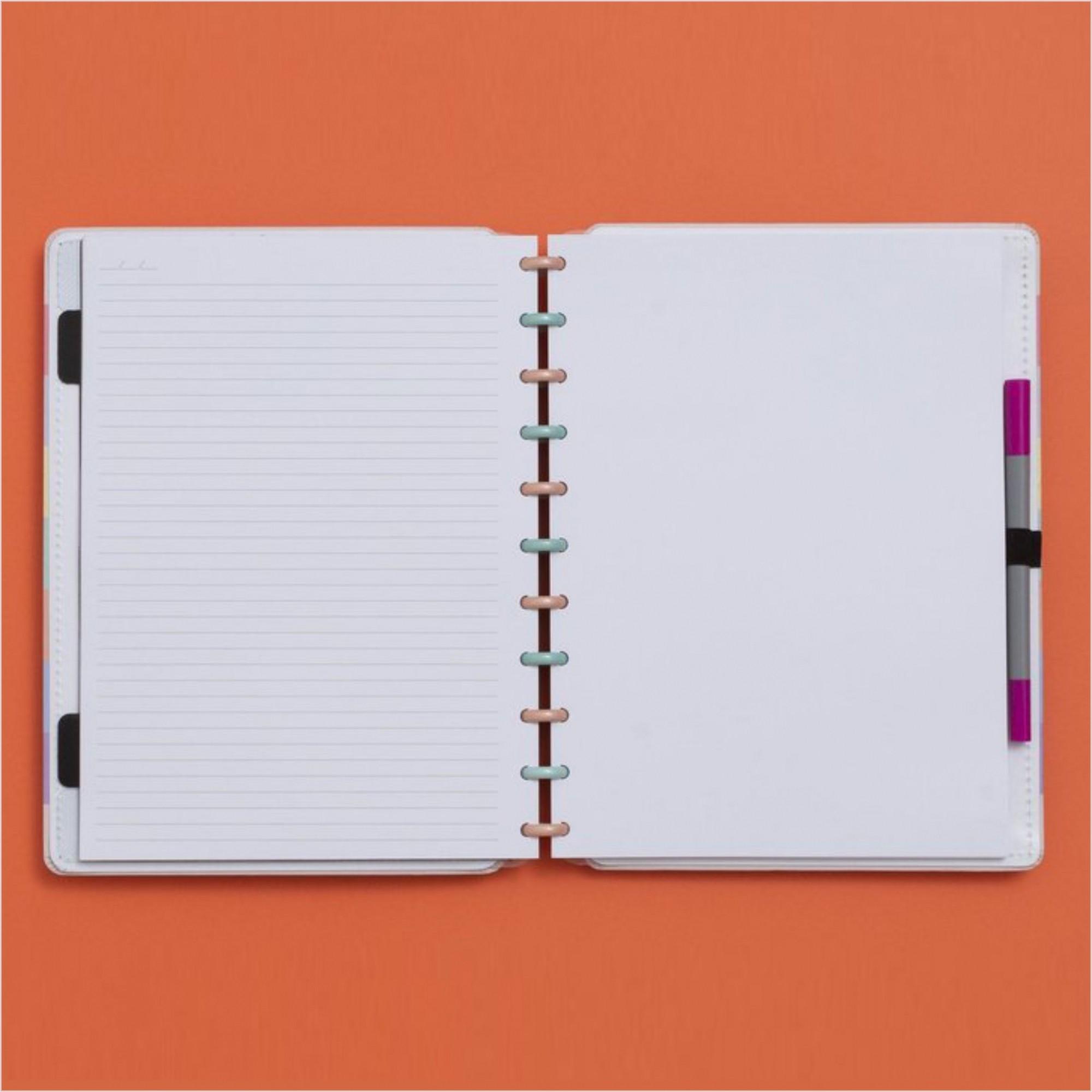 Caderno Inteligente Arco-Íris Grande 280x215mm   Caderno Inteligente