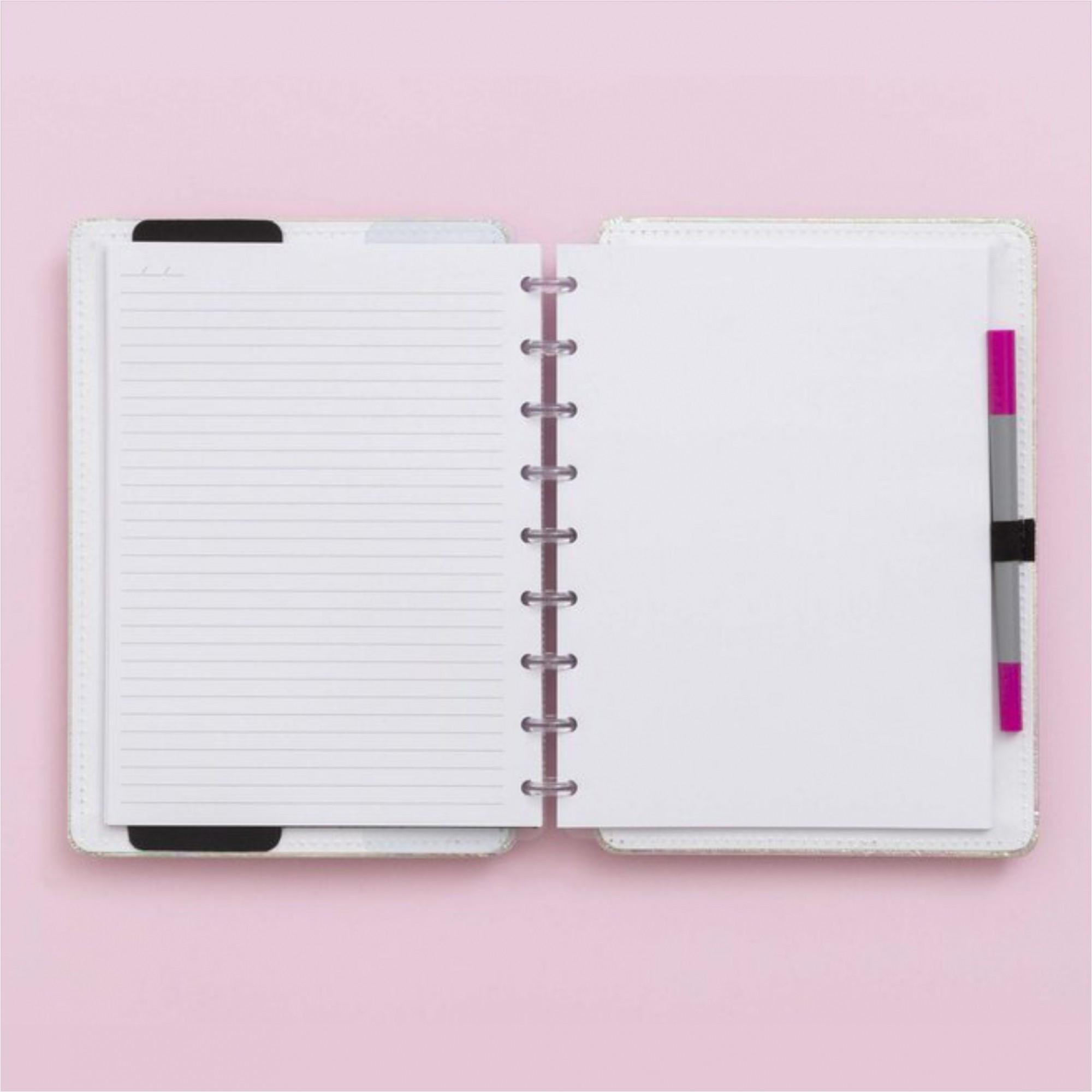 Caderno Inteligente Holográfico Rosa | Caderno Inteligente