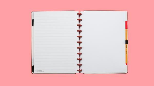 Caderno Inteligente Rosa Pastel | Caderno Inteligente