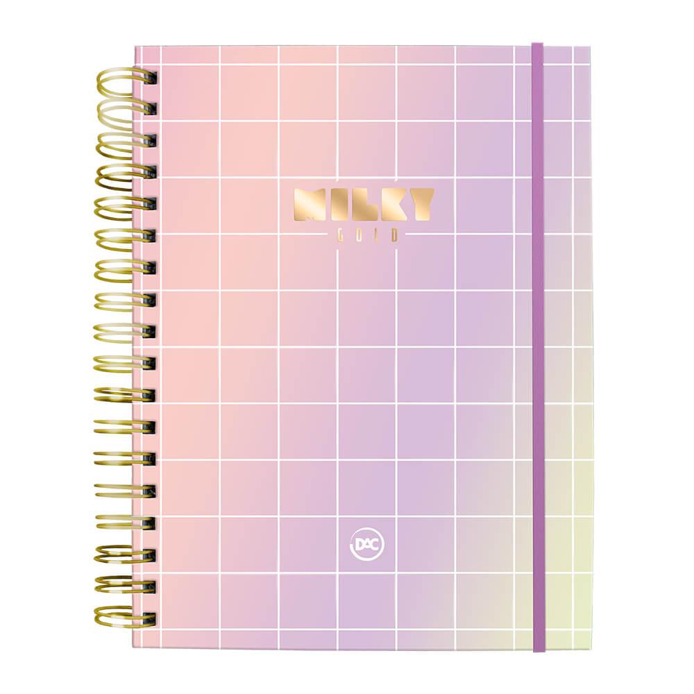 Caderno Milky Gold 10 Matérias 80 Folhas Linhas Brancas Folhas Destacáveis | DAC