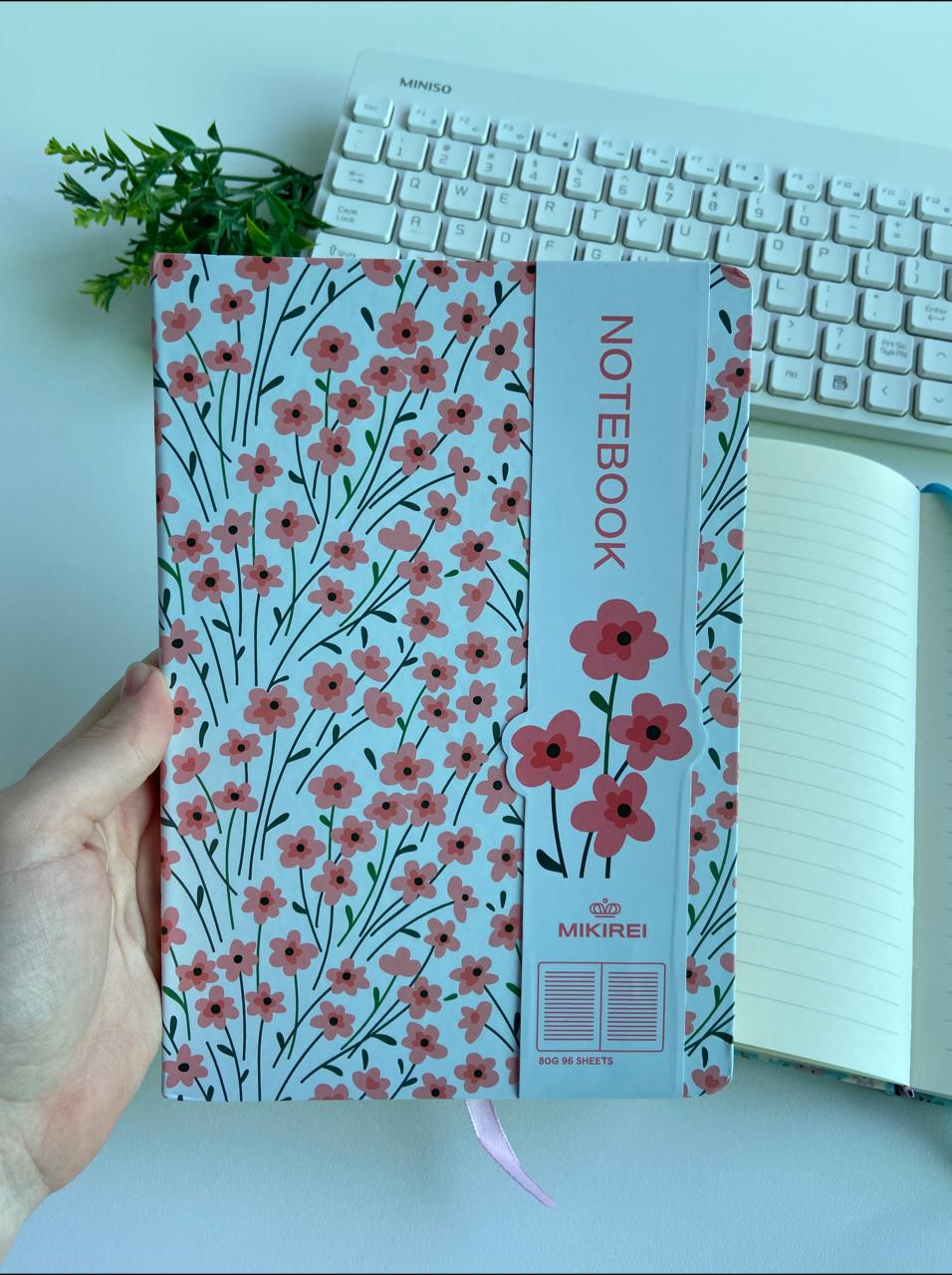 Caderno Notebook Floral 96 Folhas | Importado