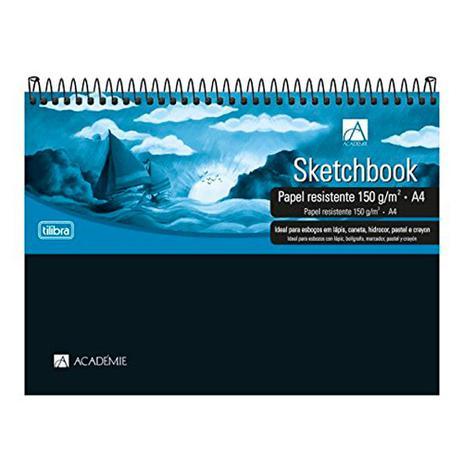 Caderno Sketchbook A4 Espiral Academie 50 folhas 150mg | Tilibra