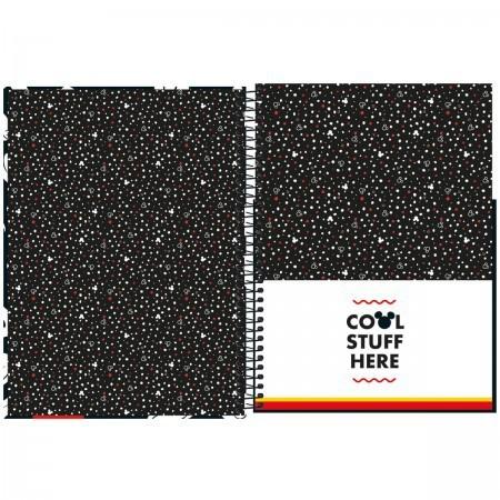 Caderno Universitário 80 folhas Mickey Mouse   Estampas Variadas   Tilibra