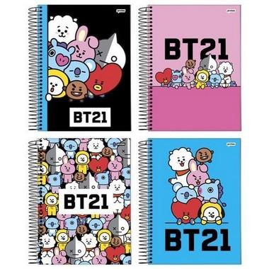 Caderno Universitário BT21 BTS Original 1 Matéria  96Fls   Capas variadas   Jandaia