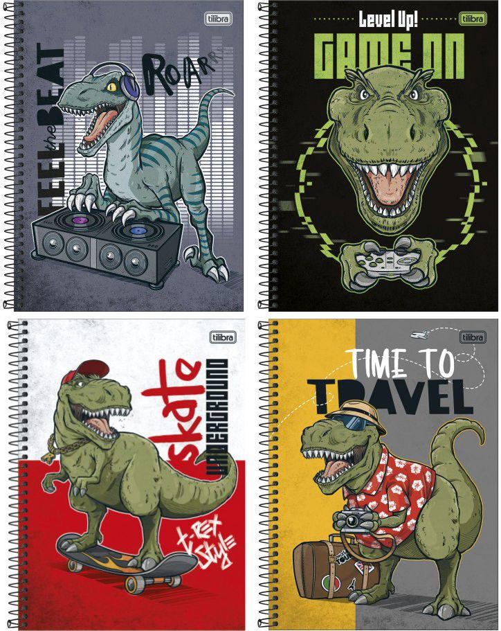 Caderno Universitário Raptor Capa Dura Raptor 160 folhas | Tilibra