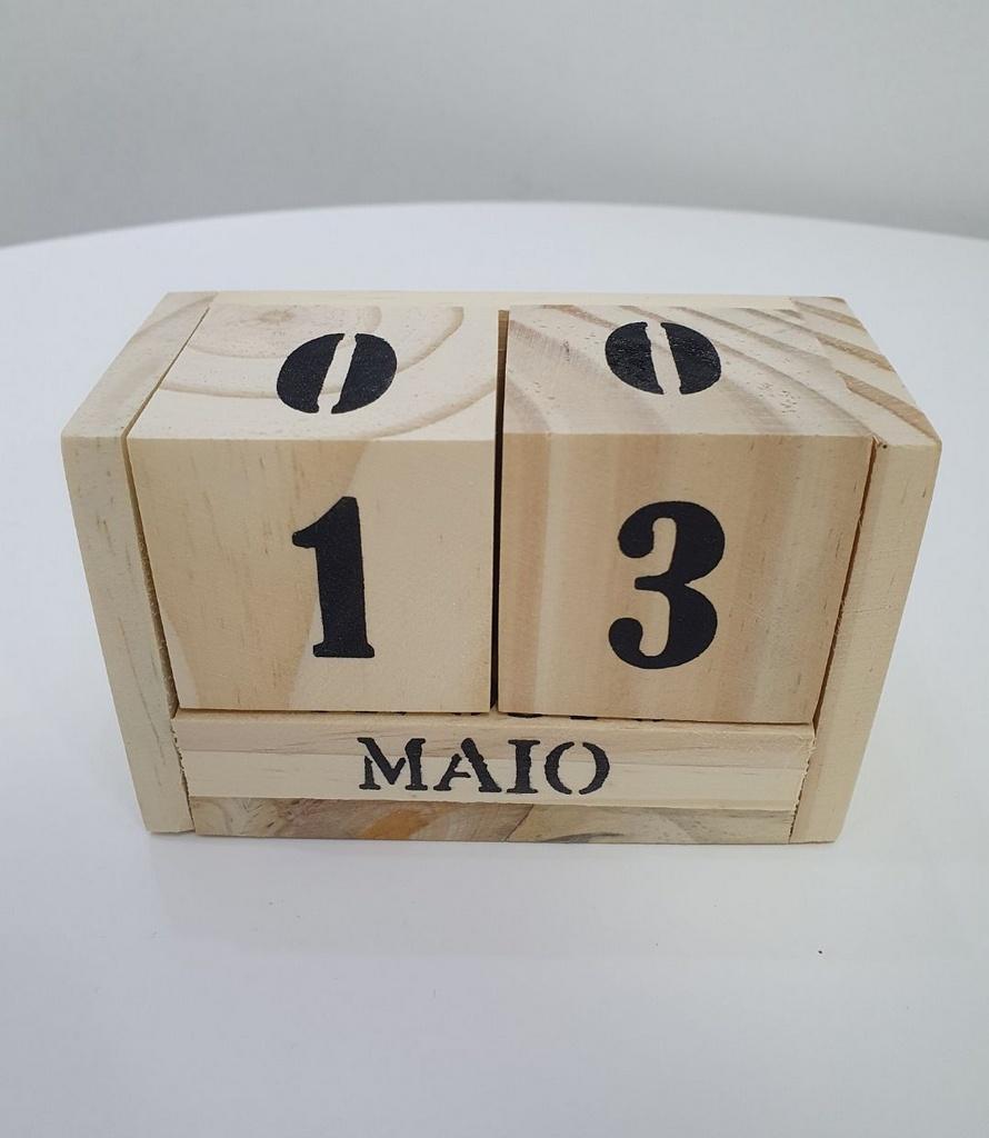 Calendário Permanente De Madeira | Importado