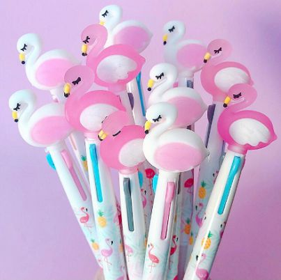 Caneta 2 Cores Troca Ponta Flamingo | Importados