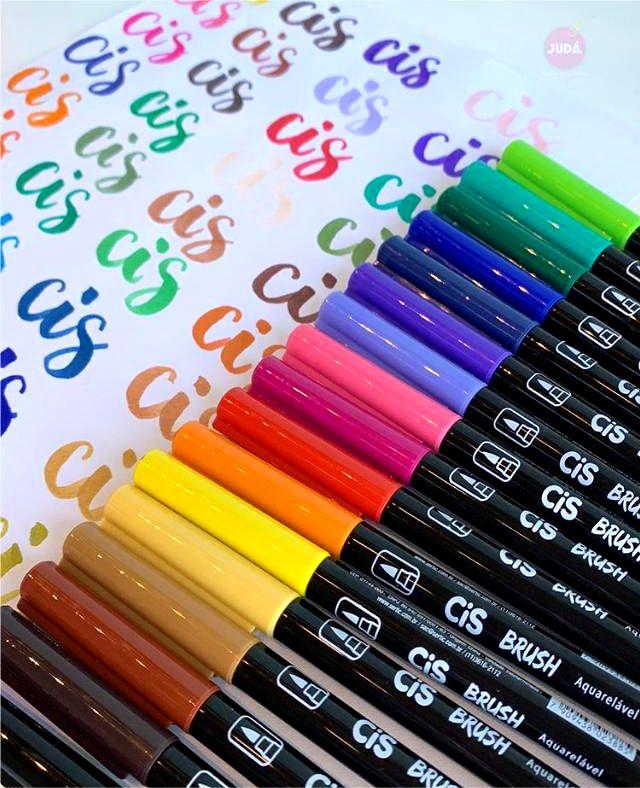 Caneta Brush Pen Aquarelável | CiS