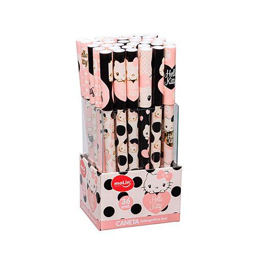 Caneta Esferográfica Hello Kitty Cristal | Molin