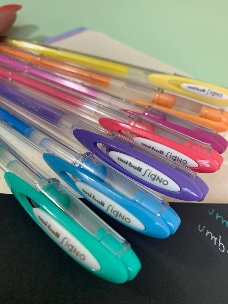 Caneta Gel Signo Angelic Colour   Cores Variadas   Uni-Ball