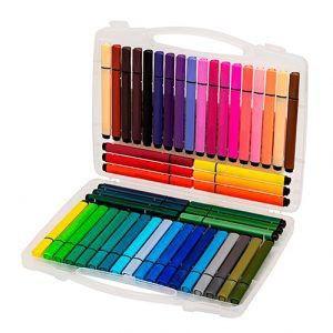Caneta Hidrocor Artística com 48 cores em uma Maleta   Molin