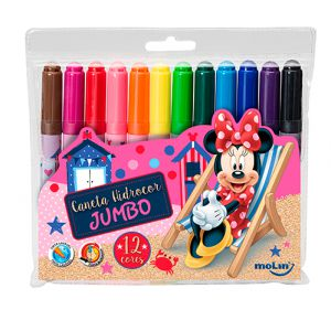 Caneta Hidrocor Jumbo Minnie Mouse com embalagem sortida | Molin