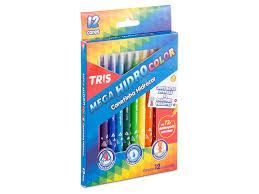 Caneta Hidrocor Mega Hidro Color 12 Cores   TRIS