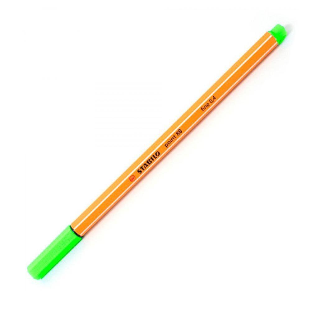 Caneta hidrográfica Fine Point 88/033 - Verde neon - 0.4mm | Stabilo