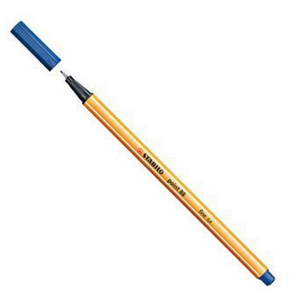 Caneta hidrográfica Fine Point 88/22 - 0.4mm - Azul Marinho | Stabilo