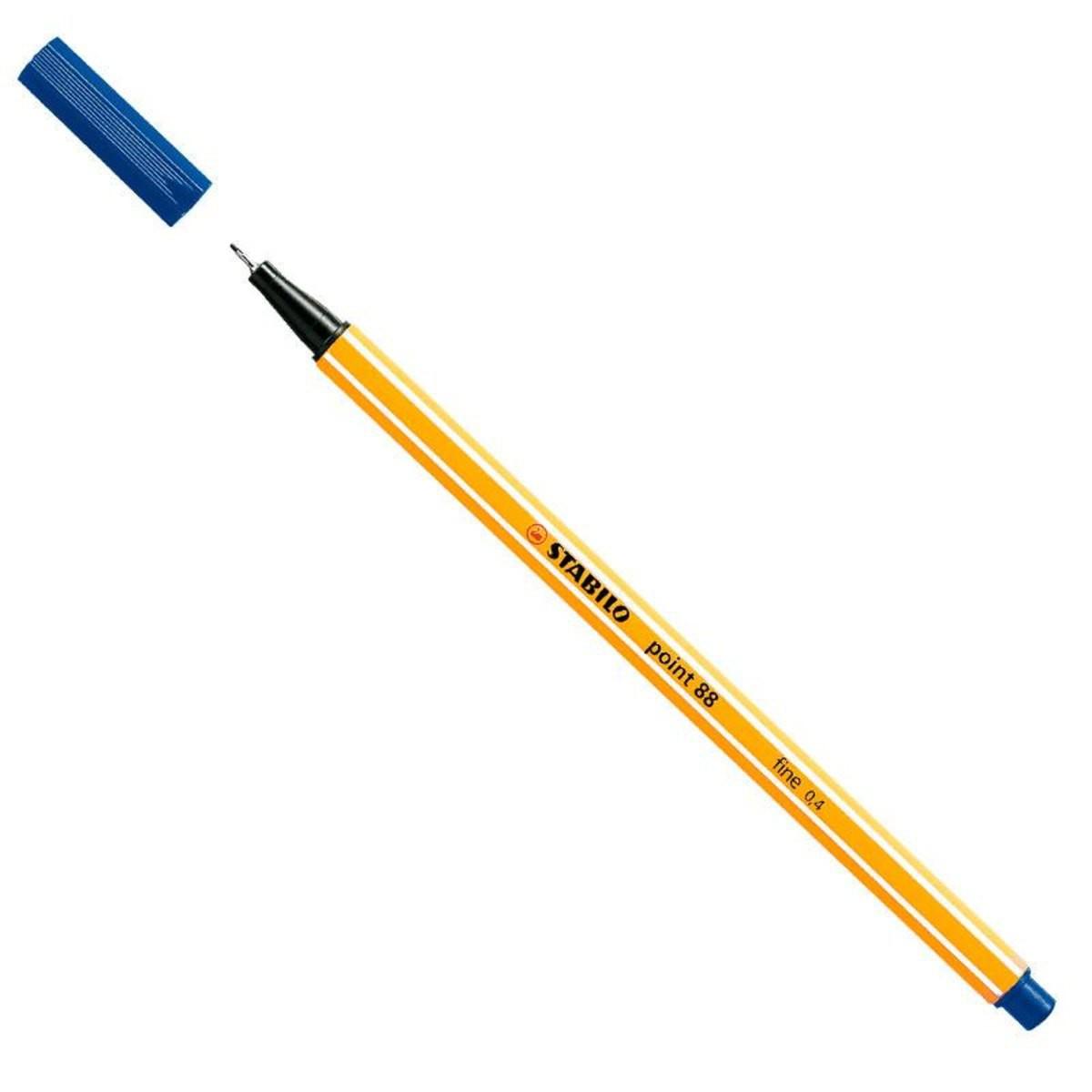 Caneta hidrográfica Fine Point 88/41 - 0.4mm - Azul   Stabilo