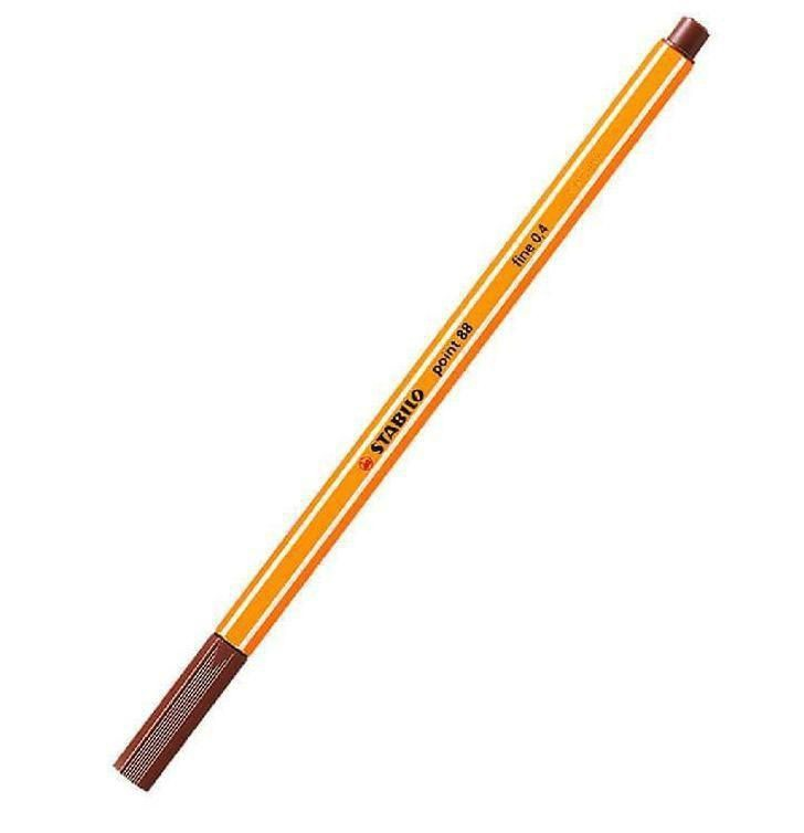 Caneta Hidrográfica Fine Point 88/45 - 0.4mm Marrom Escuro| Stabilo