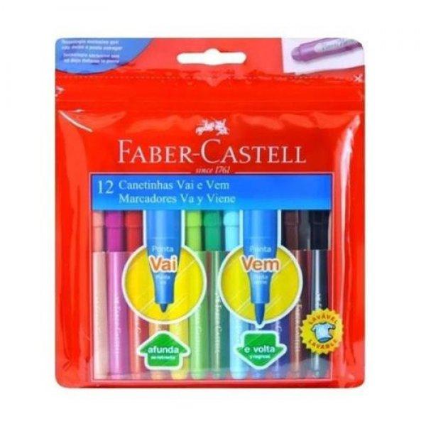 Caneta hidrográfica Vai e Vem  12 Cores | Faber-Castell