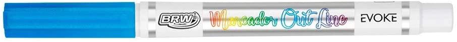 Caneta Outline Marcador artístico 8 cores Evoke | BRW