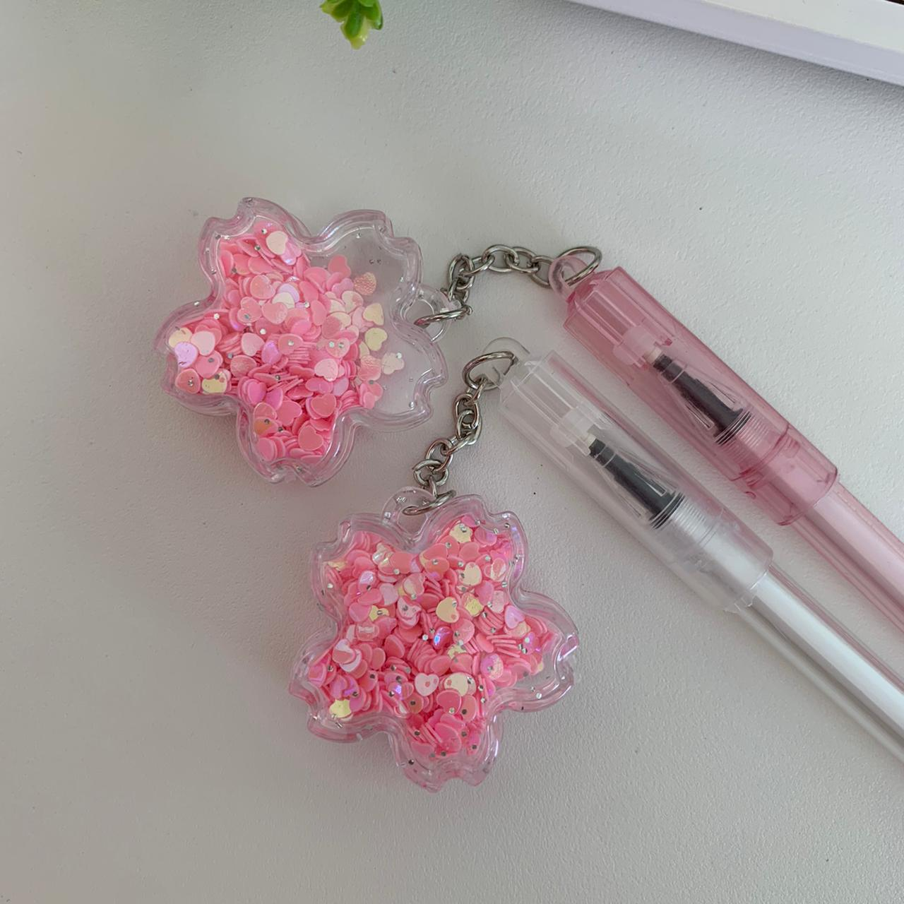 Caneta Pingente Flor Sakura | Importado