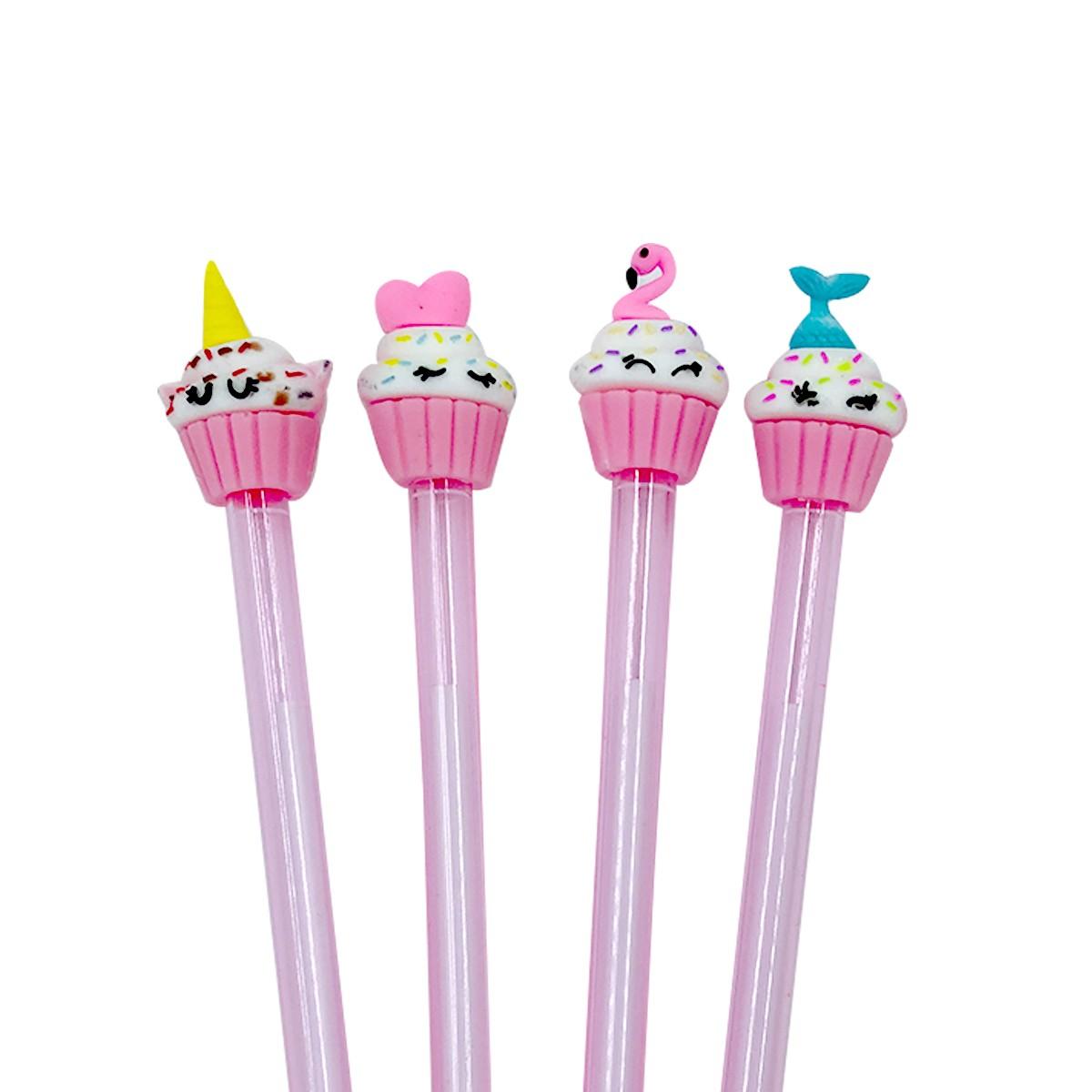Canetas Divertidas Sortidas Magical Cupcake | Poop Store