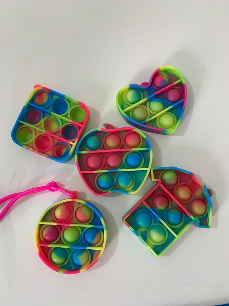 Chaveiro Pop It Anti Estresse Relaxamento Ansiedade Fidget Toy   Importado
