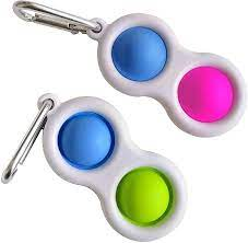 Chaveiro Popit Duplo Fidget Toy Brinquedo Anti Stress | Importado