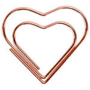 Clips coração Rose Gold com 12 | Molin