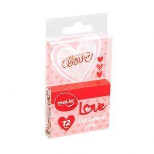 Clips especial Love caixa com 12 | Molin