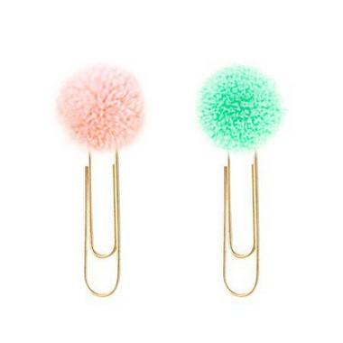 Clips Pom Pom Love com 2 unidades - Rosa e Verde | Molin