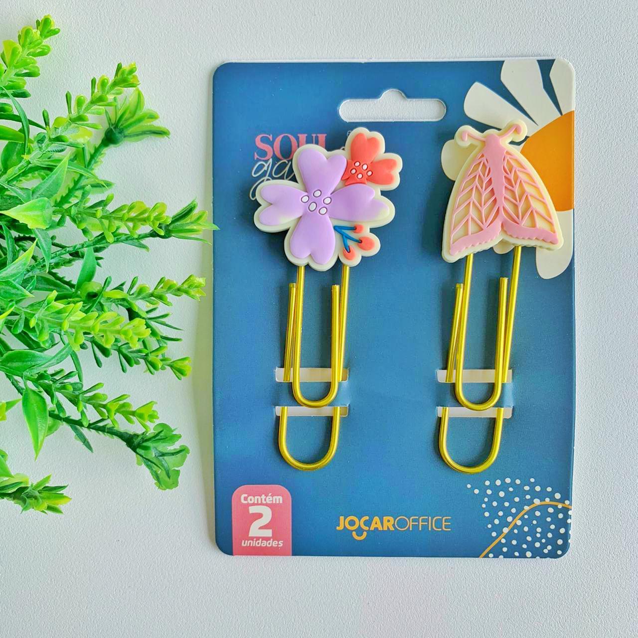 Clips Soul Garden Borboleta 7,5cm Blister C/ 2 Und. - Jocar