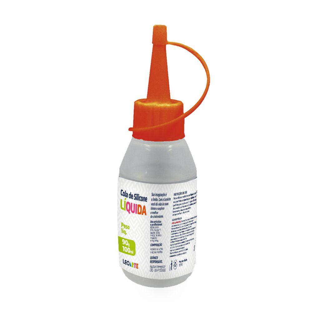 Cola de Silicone Líquida 90g 100ml   Leonora