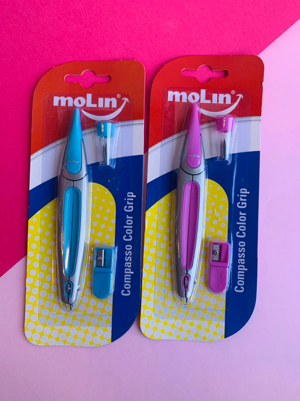 Compasso Escolar Color Grip | Molin
