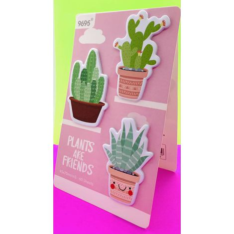 Bloco Adesivado Post It Cacto Plants | Importado